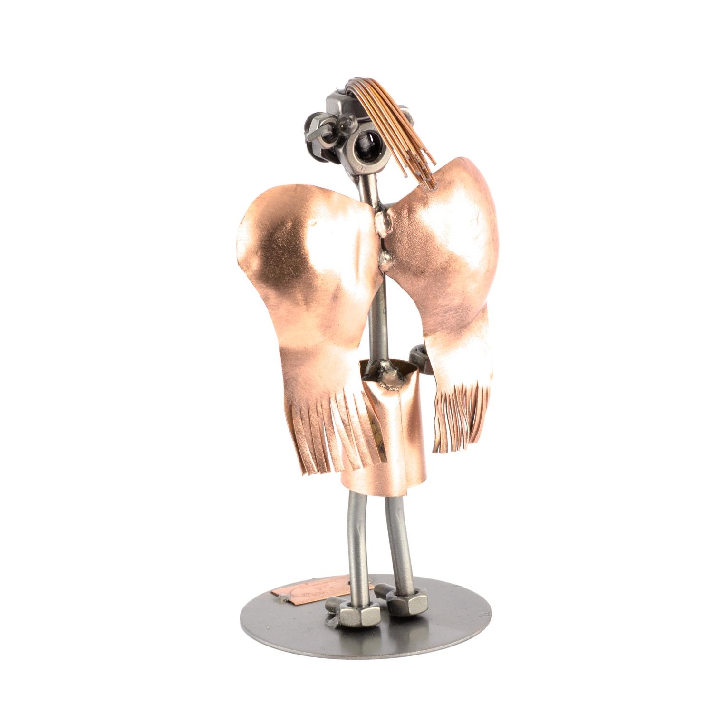 Steelman Guardian Angel metal art figurine