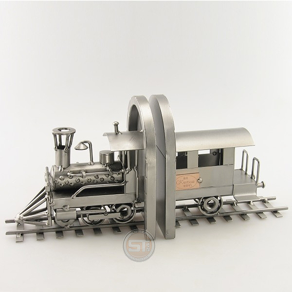 Locomotive Book End metal art