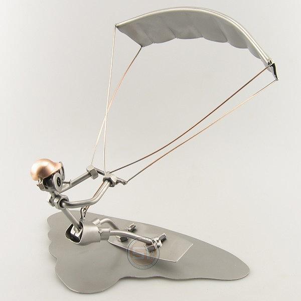 Steelman Kitesurfing metal art figurine
