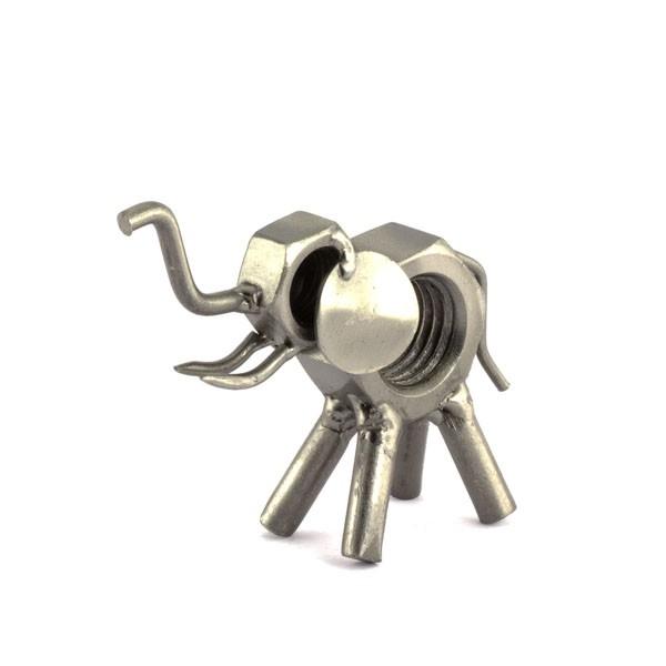 Elephant metal art figurine