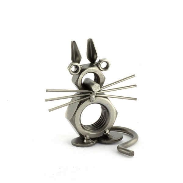 Cat metal art figurine