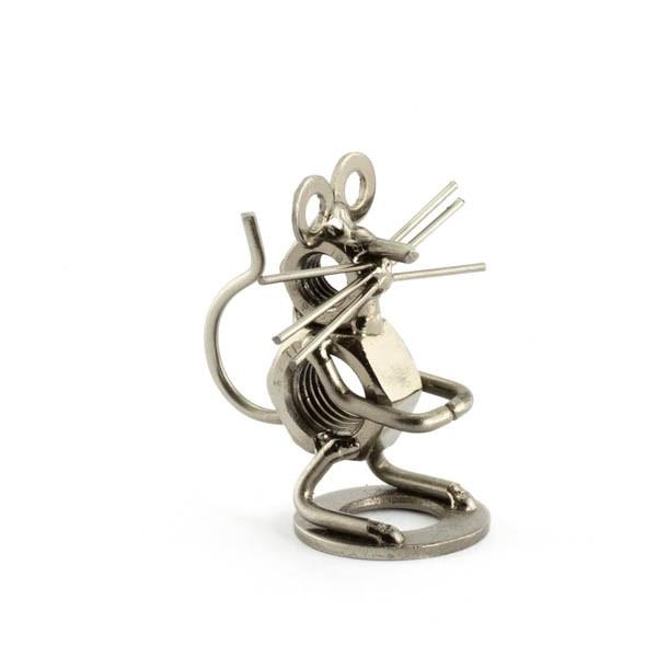 Mouse metal art figurine