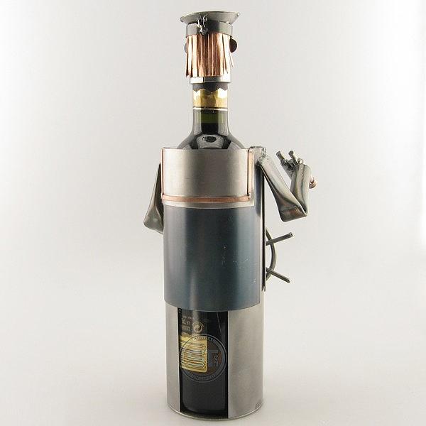 Captain Wine Bottle Holder metal art