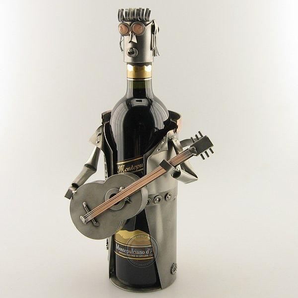 Elvis Wine Bottle Holder metal art