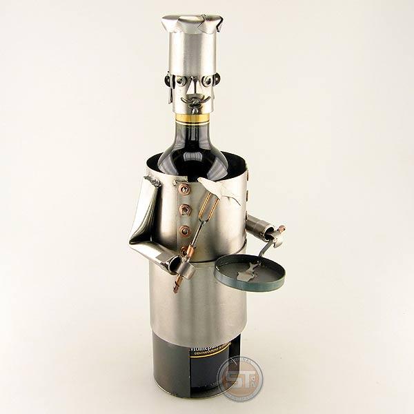 Cook Wine Bottle Holder metal art