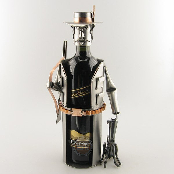 Hunter Wine Bottle Holder metal art