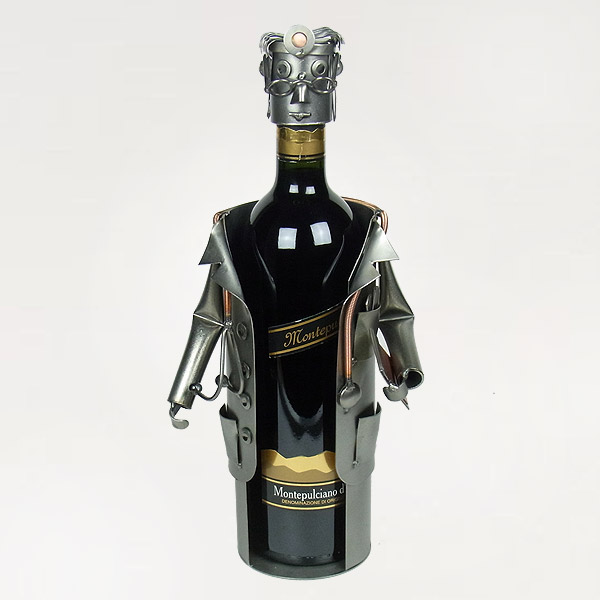 Doctor Wine Bottle Holder metal art