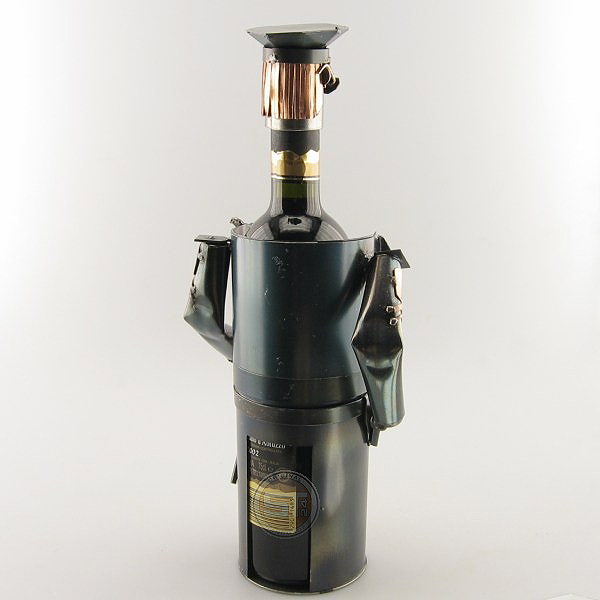 Police Officer Wine Bottle Holder metal art