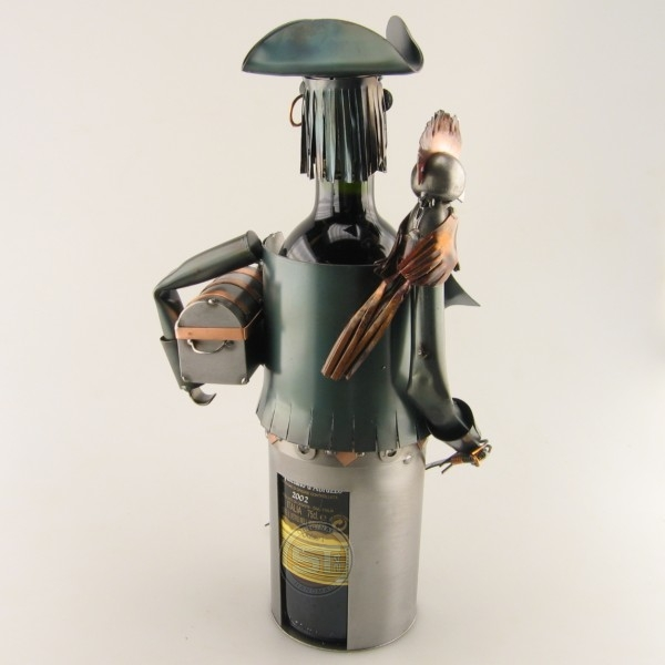 Pirate Wine Bottle Holder metal art
