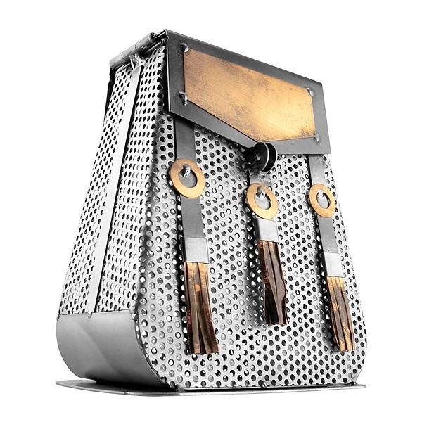 Bag of Money Box / Purse metal art figurine