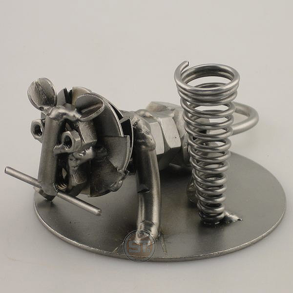 Lion metal art figurine with a Pen Holder