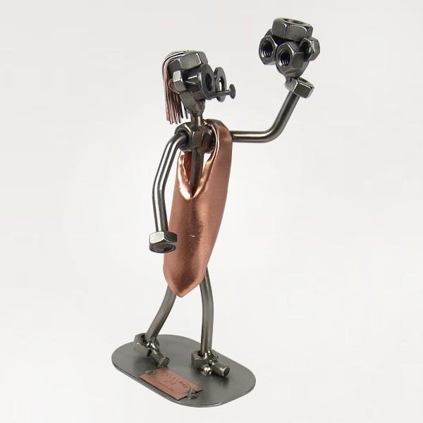 Steelman Hamlet Actor in his monologue metal art figurine