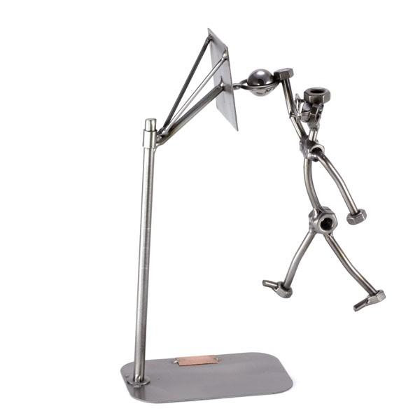 Steelman Dunking a Basketball metal art figurine