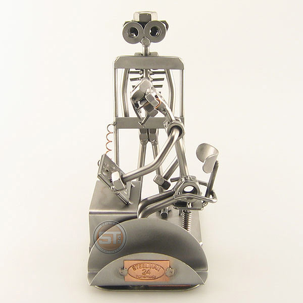 Steelman Radiologist x-rays a patient metal art figurine with a Business Card Holder