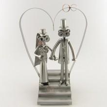 Steelman Bride and Groom walking down the aisle metal art figurine