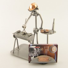 Barbecue Man Business Card Holder