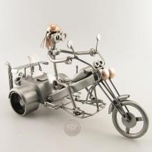 Steelman on a Trike Motorcycle metal art figurine