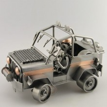 Off Road Jeep metal art figurine