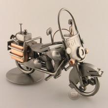 Police Motorcycle metal art figurine