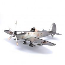 Spitfire aircraft metal art figurine