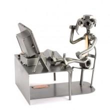 Steelman Office worker on a Break metal art figurine