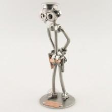 Steelman Policeman metal art figurine