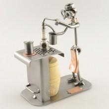 Steelman Bartender serving drinks metal art figurine