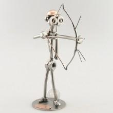 Steelman Archer holding a bow and arrow metal art figurine