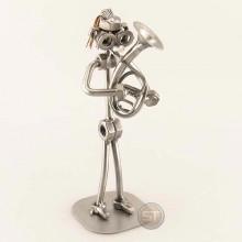 Steelman Alto Horn Player metal art figurine