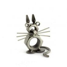 A photo of a Cat metal art figurine