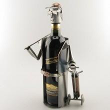 Golfplayer Wine Bottle Holder metal art
