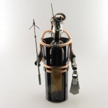 Diver Wine Bottle Holder metal art