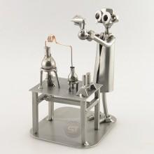 Steelman Chemist in his lab station metal art figurine