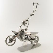 Steelman mid Motocross Freestyle metal art figurine